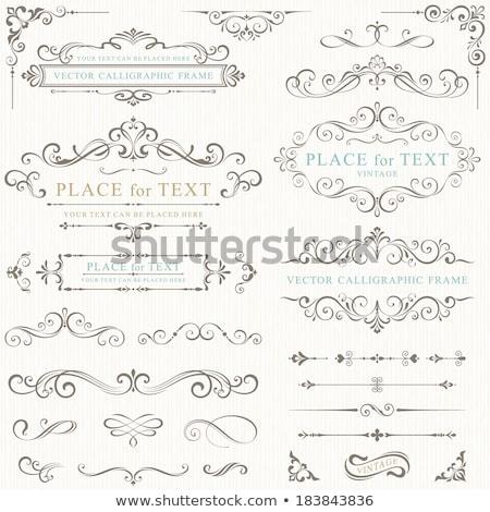 bağbozumu · düğün · elemanları · sayfa · dekorasyon - stok fotoğraf © khabarushka