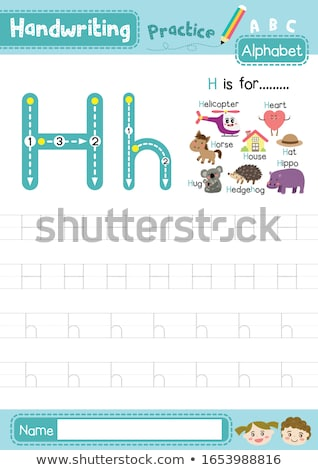 Flashcard letter H is for hedgehog Stock photo © bluering
