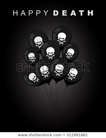 halloween · balony · projektu · konfetti · kopia · przestrzeń · wstążka - zdjęcia stock © maryvalery