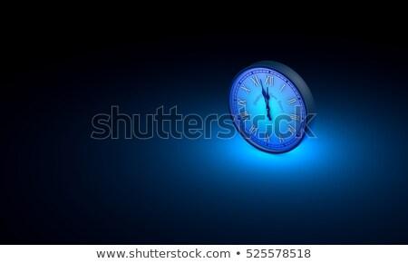 Mezzanotte nuovo tempo uno blu Foto d'archivio © grechka333