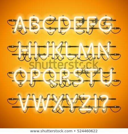kaszinó · neon · kártyák · póker · szimbólumok · üres - stock fotó © voysla