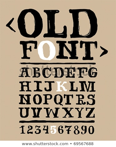Fuentes colección áspero sucio decorativo alfabeto Foto stock © Vanzyst