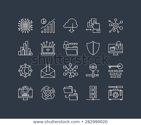 Cloud link line icon. Stock photo © RAStudio