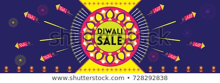 diwali sale poster with festival crackers and diya Stock photo © SArts