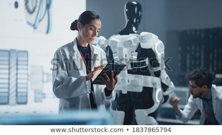 genetic engineering and science scientist working in laboratory stock photo © stevanovicigor