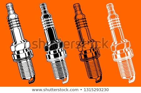 Sparking Plugs Background Stock photo © Bigalbaloo