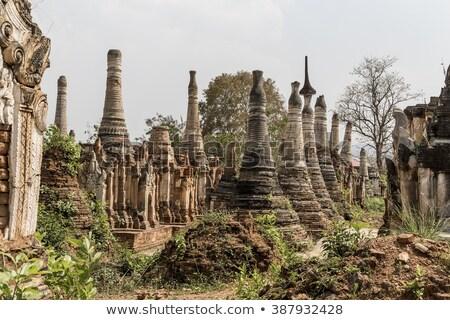 velho · Mianmar · birmânia · sudeste · da · Ásia · edifício · arquitetura - foto stock © cozyta