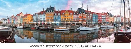 Kopenhaga Dania kolorowy starych budynków rząd Zdjęcia stock © stevanovicigor