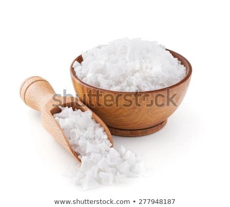 durva · tengeri · só · merítőkanál · étel · wellness · só - stock fotó © tycoon