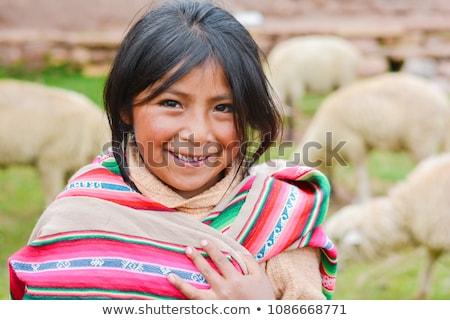Happy Peruvian Girl Stock photo © dtiberio