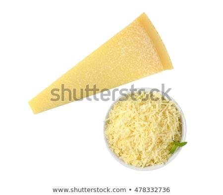 Tál ék parmezán sajt friss fehér étel Stock fotó © Digifoodstock