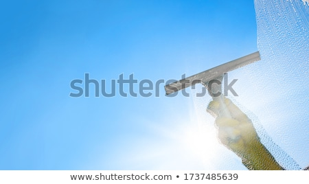 window cleaner with squeegee stock photo © krisdog