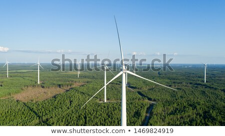 Aerial View Of Energy Producing Wind Turbines Stock photo © vlad_star