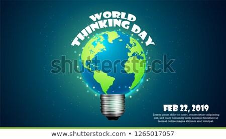 22 mundo pensando dia calendário cartão Foto stock © Olena