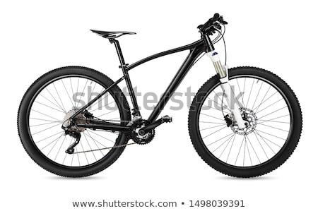 Moderno raça mountain bike isolado preto estúdio Foto stock © lightpoet