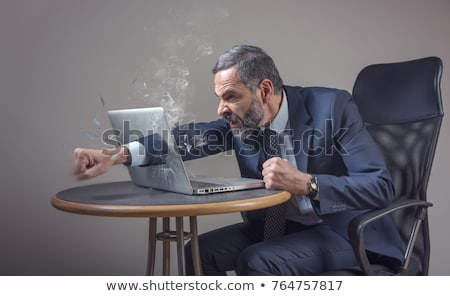 Senior caucasian furious businessman screaming. Stock photo © RAStudio