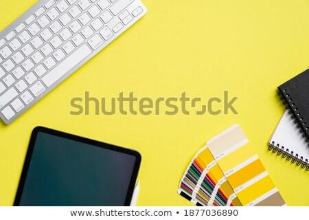 Dizüstü bilgisayar modern işyeri ekran ofis Stok fotoğraf © tashatuvango