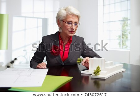 Female senior architect at work in loft Stock photo © IS2