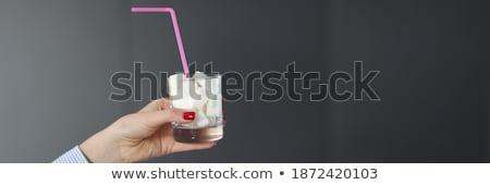 Human Hand Holding Sugar Cubes Stock photo © AndreyPopov