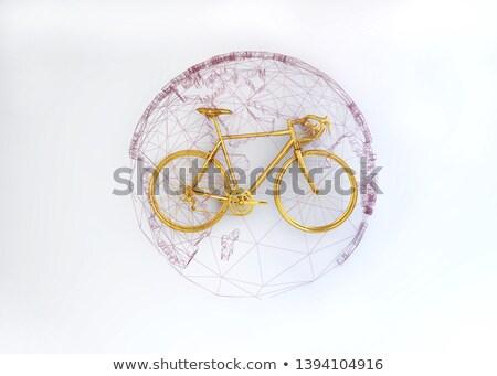 Globe Community on the Golden Gears. 3D Illustration. Stock photo © tashatuvango