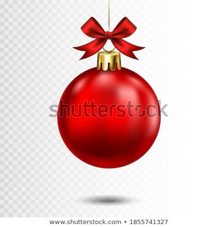 ストックフォト: ベクトル · 陽気な · クリスマス · 実例 · 金 · ガラス