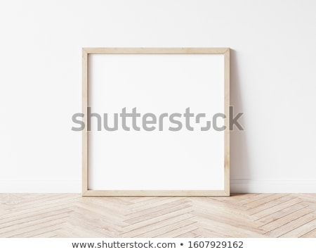Paper and wooden square frame Stock photo © romvo
