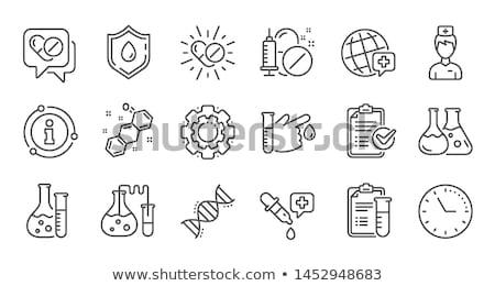 pipette line icon stock photo © rastudio