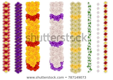 vertical flower garland for indian holiday ugadi and wedding stock photo © orensila