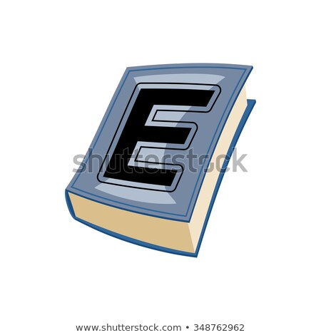 Lletter E at Vintage books in hardcover. Alphabetical stashes on Stock photo © popaukropa