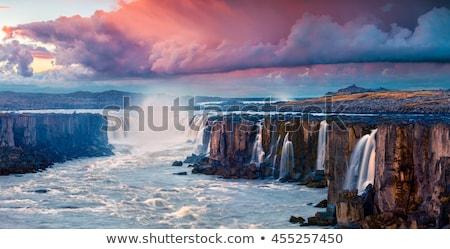 fantástico · hermosa · amanecer · medianoche · sol · camino · de · tierra - foto stock © kotenko