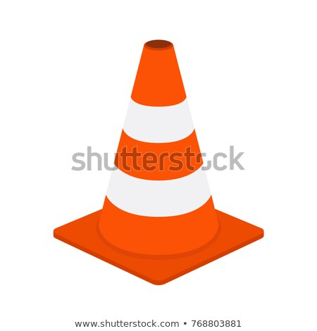 Traffic cone vector cartoon illustration. Stock photo © RAStudio