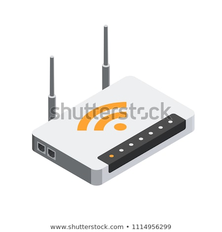 Wifi internet router isometric 3D icon Stock photo © studioworkstock