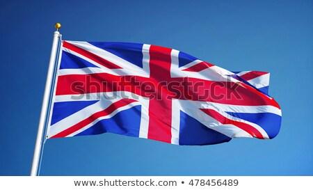 İngiliz bayrağı bayrak mavi gökyüzü kimlik açık havada gün Stok fotoğraf © IS2