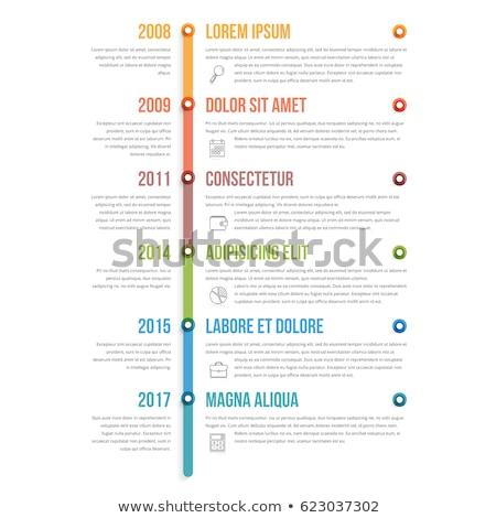 ベクトル 垂直 インフォグラフィック タイムライン テンプレート オレンジ ストックフォト © orson