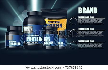 Sport nutrition bodybuilding Photo stock © popaukropa