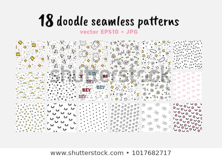 doodle seamless pattern with fantasy magical elements stock photo © balasoiu