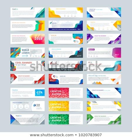 Set of horizontal banners templates Stock photo © orson