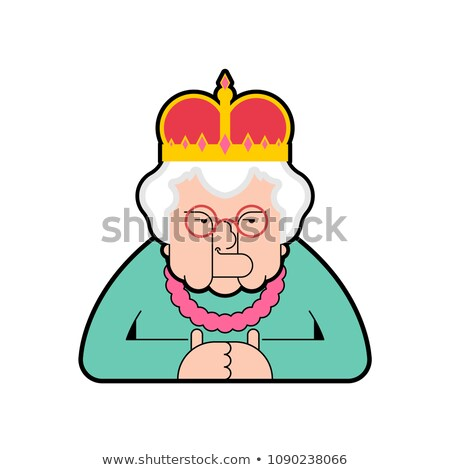Queen isolated. Boss old lady in crown. Vector illustration Stock photo © MaryValery