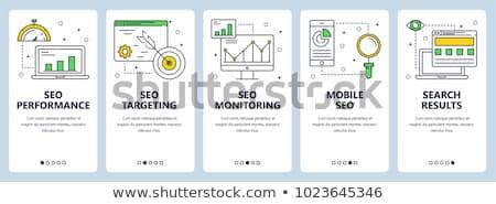 Seo иконки баннер поисковая развития современных Сток-фото © Genestro