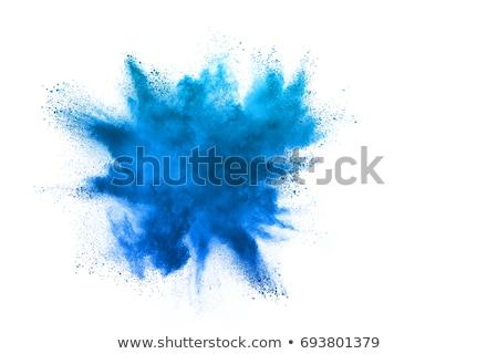 Explosión azul polvo humo textura resumen Foto stock © NeonShot