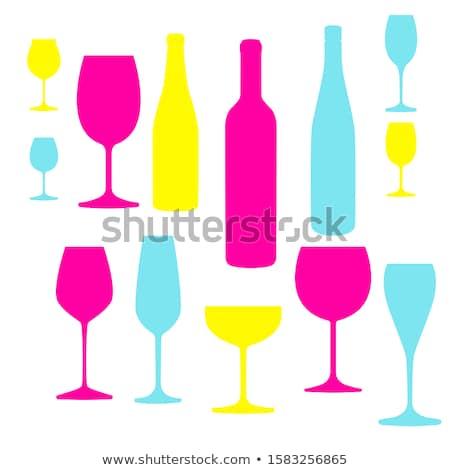 şampanya flüt şişe kristal beyaz şarap Stok fotoğraf © magraphics
