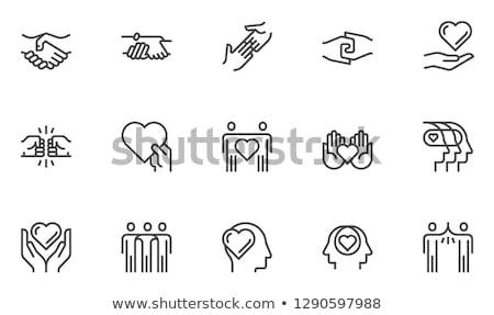 признательность · линия · икона · клиент · удовлетворение · символ - Сток-фото © wad