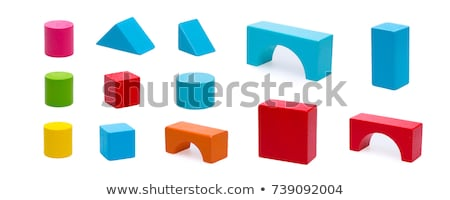 Wooden blocks isolated on the white background Stock photo © boggy