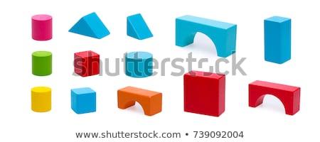 edifícios · fora · brinquedo · blocos · de · construção - foto stock © boggy