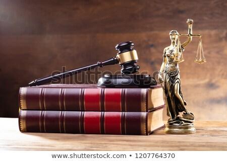Сток-фото: Lady Justice Near Gavel Over Law Book