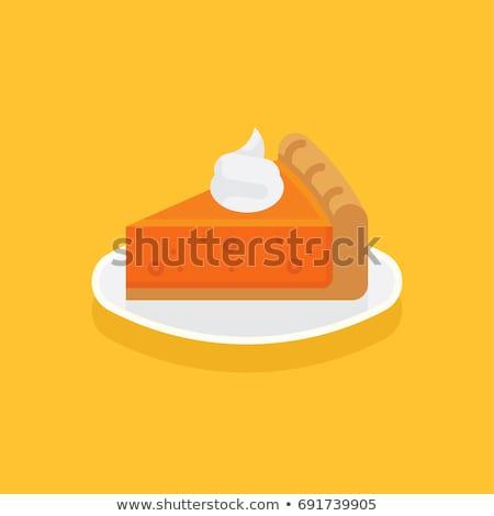 fatia · abóbora · torta · chantilly · copo · café - foto stock © freesoulproduction
