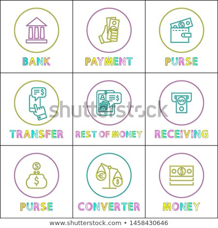 Purse with Payment and Money Converter Color Cards Stock photo © robuart