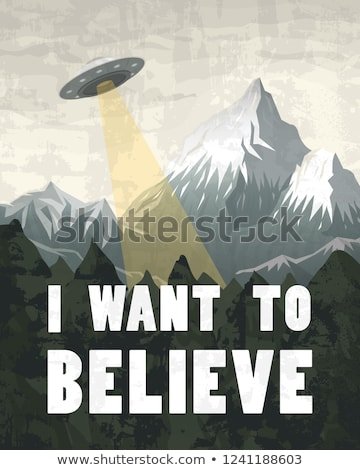 UFO beam isolated. Aliens kidnap template. Vector illustration Stock photo © MaryValery