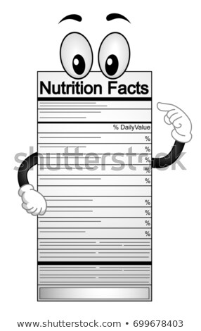 Nutrition Facts Mascot Illustration Stock photo © lenm