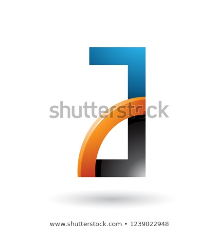 Black and Orange Letter A with a Glossy Quarter Circle Vector Il Stock photo © cidepix